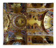 Church Ceiling Serbian Orthodox Resurrection Cathedral Saborni Hram Hristovog Vaskrsenja Podgorica Fleece Blanket