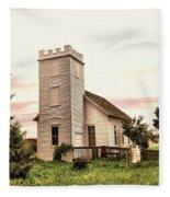 Church In Bowman North Dakota Fleece Blanket