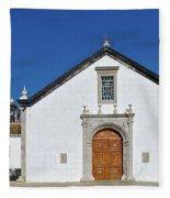 Church Of Cacela Velha In Portugal Fleece Blanket