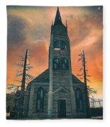 Church Of Days Past Fleece Blanket
