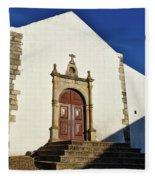 Church Of Misericordia. Portugal Fleece Blanket