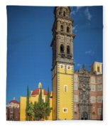 Church Of San Francisco In Puebla Fleece Blanket