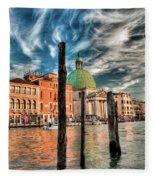 Church Of San Simeone Piccolo, Venice Fleece Blanket