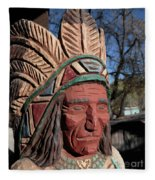 Cigar Store Indian  Fleece Blanket
