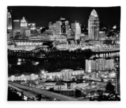 Cincinnati Covington And Ohio River Fleece Blanket