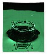 Circle Water Dance Green Fleece Blanket