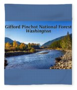 Cispus River In The Gifford Pinchot National Forest, Washington State Fleece Blanket