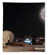 City Fireworks Fleece Blanket