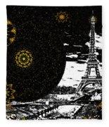 City Of Lights - Kaleidoscope Moon For Children Gone Too Soon Number 6  Fleece Blanket