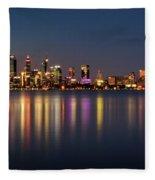 City Reflections  Fleece Blanket