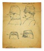 Civil War Military Hat Fleece Blanket