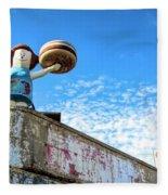 Clam Bar Theme Park Coney Island  Fleece Blanket