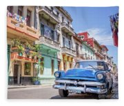 Classic Car Havana 8x10 Fleece Blanket