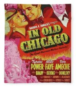 Classic Movie Poster - In Old Chicago Fleece Blanket