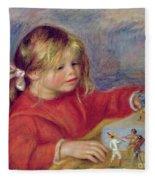 Claude Renoir At Play Fleece Blanket