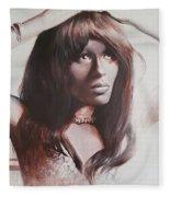 Claudia Lennear.brown Sugar.lady Grinning Soul Fleece Blanket
