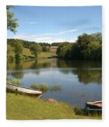 Clerklands Loch, Near Selkirk, Scottish Borders Fleece Blanket