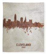 Cleveland Ohio Rust Skyline Fleece Blanket