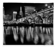 Cleveland Skyline Fleece Blanket