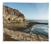 Cliff In The Ocean Fleece Blanket