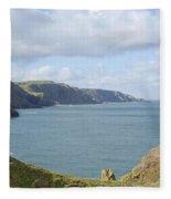 cliffs and coast at St. Abbs Head, Berwickshire Fleece Blanket