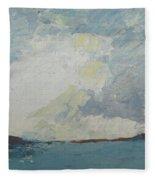Cloud Above The Sea Fleece Blanket