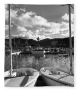 Clouds And Sailing  Fleece Blanket