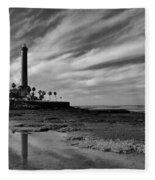 Clouds Over The Chipiona Faro Fleece Blanket