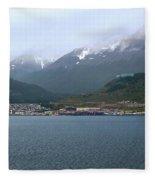 Cloudy Morning In Ushuaia, Argentina Fleece Blanket