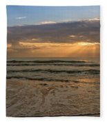 Cloudy Sunrise In The Mediterranean Fleece Blanket