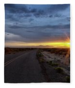 Cloudy Sunset Fleece Blanket