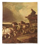 Coal Cars 1822 Fleece Blanket