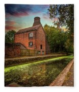 Coalport Bottle Kiln Sunset Fleece Blanket
