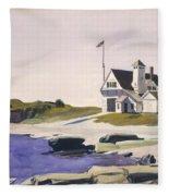 Coast Guard Station  Two Lights  Maine  Fleece Blanket