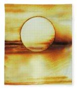 Coastal Moon Glow Fleece Blanket