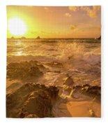 Coastal Sunrise Spectacular  Fleece Blanket