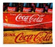 Coca Cola Crates Fleece Blanket