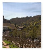 Cochem Castle And Town On Mosel In Germany Fleece Blanket
