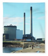 Cockenzie Power Station Fleece Blanket