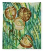 Coconut Tree Fleece Blanket