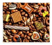 Coffee Candy Fleece Blanket