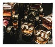Cognac Cars Fleece Blanket