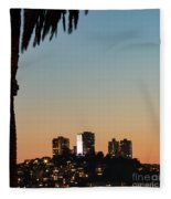 Coit Tower Twilight Fleece Blanket