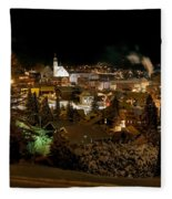 Cold Winter Night Fleece Blanket