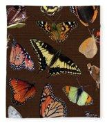 Collage Of Ca Butterflies Fleece Blanket