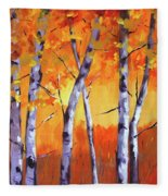 Color Forest Landscape Fleece Blanket