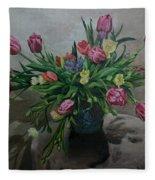 Color Of Natureoil Fleece Blanket