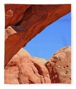 Colorado Arches, Close Up Blue Sky 3440 Fleece Blanket