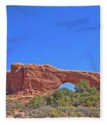 Colorado Arches Rock, Scrub Blue Sky 3397 Fleece Blanket