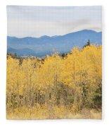 Colorado Autumn In The Mountains Fleece Blanket